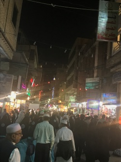 Busy Arabian souk, Karbala